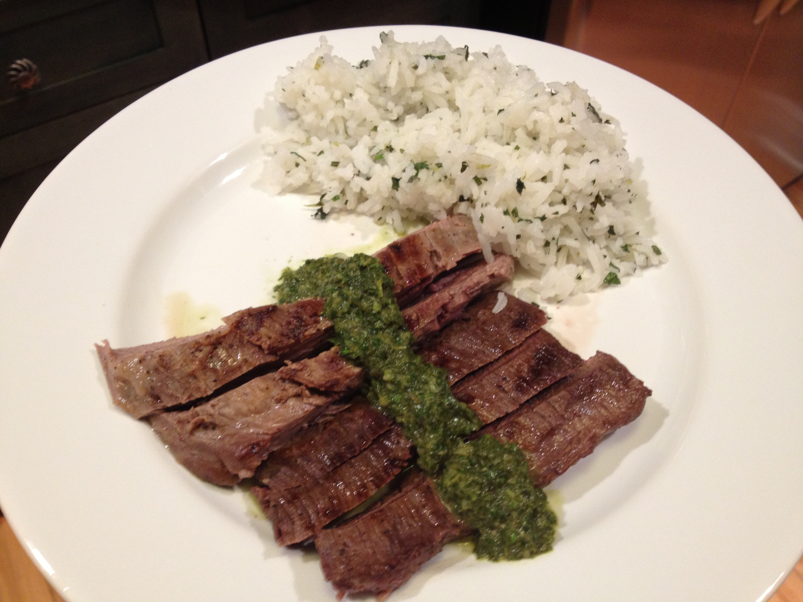 Grilled Skirt Steak with Roasted Jalapeño Chimichurri ...
