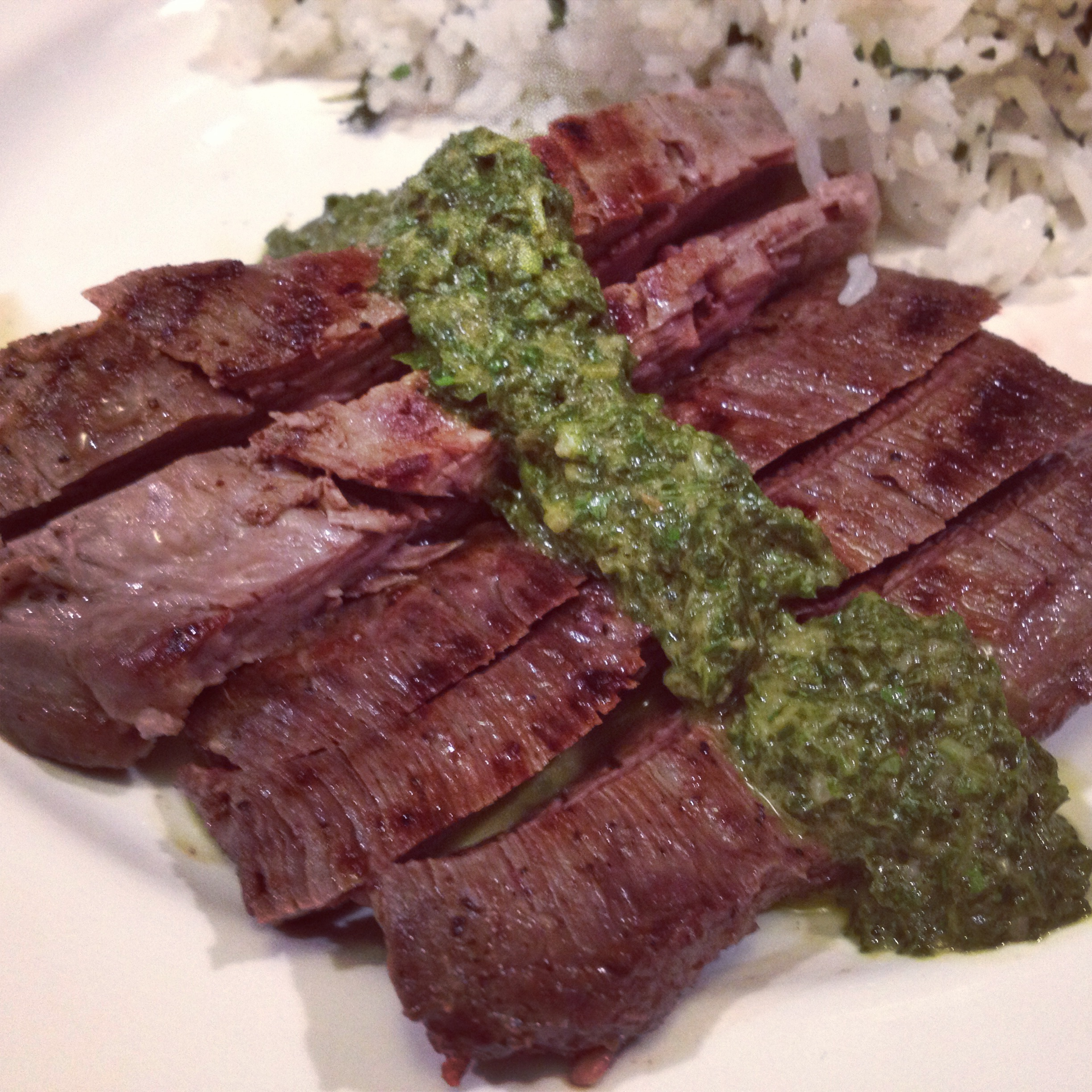 ... steak on texas toast with chimichurri grilled chicken chimichurri