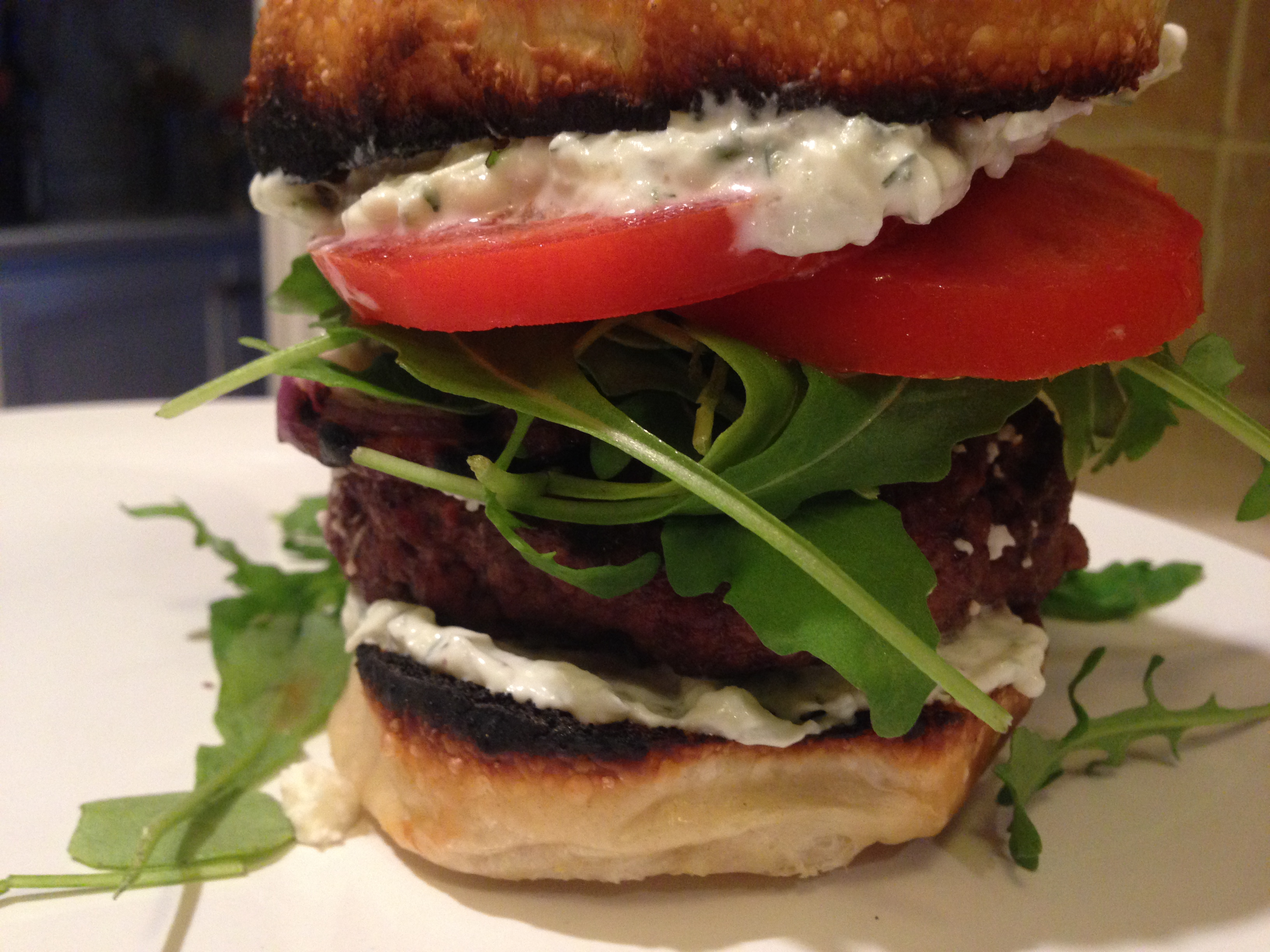 Greek Burger with Tzatziki