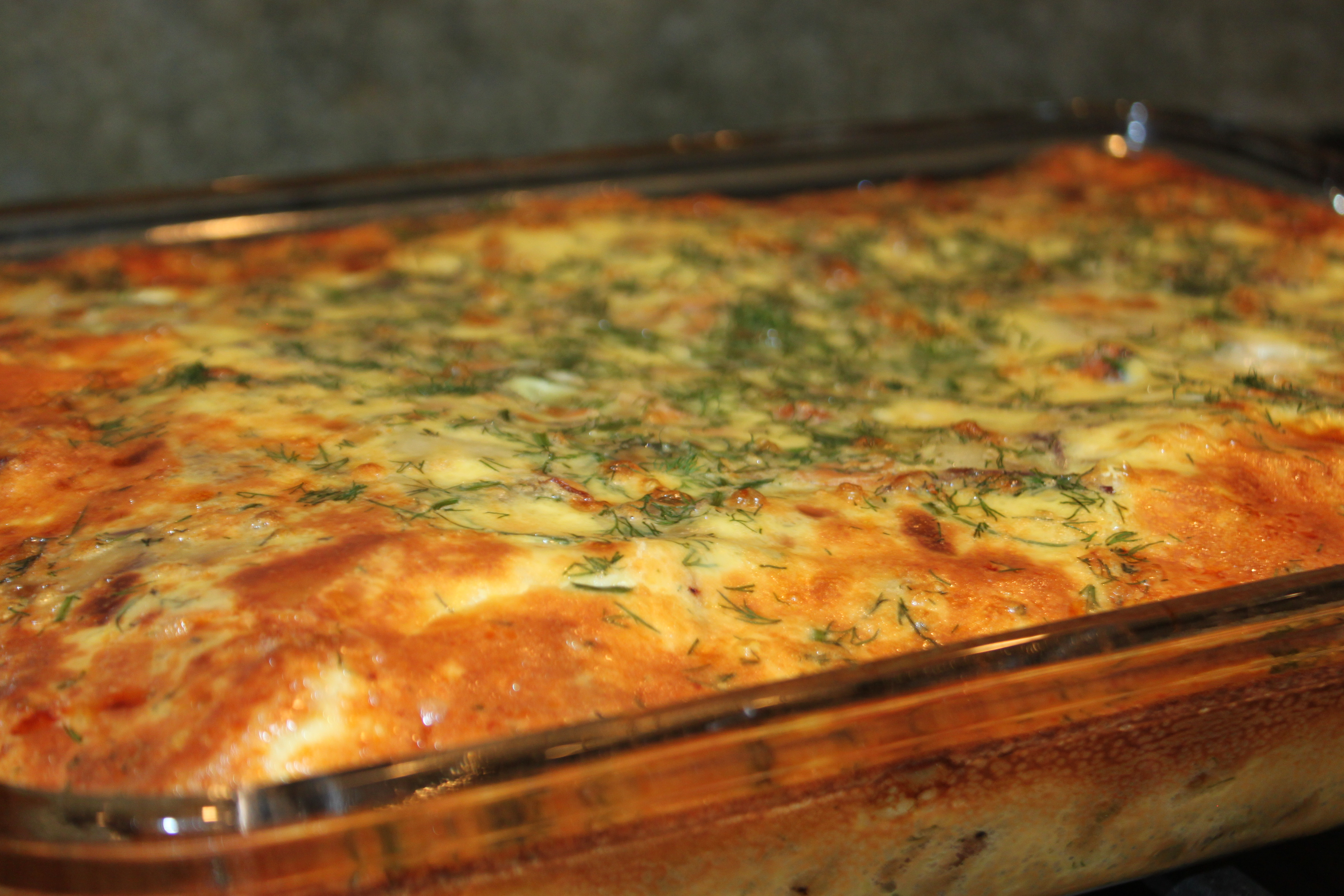 ... yummly egg and cheese breakfast casserole with smoked salmon and leeks
