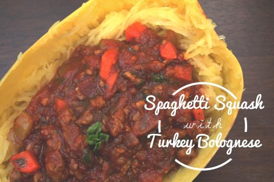 Spaghetti Squash & Turkey Bolognese