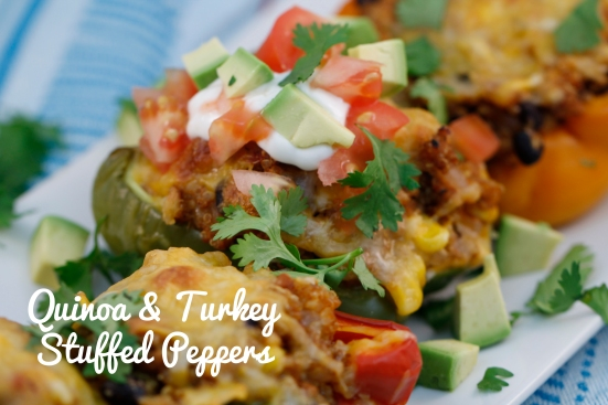 Quinoa & Turkey Stuffed Peppers    Hugs 'n Kitchen